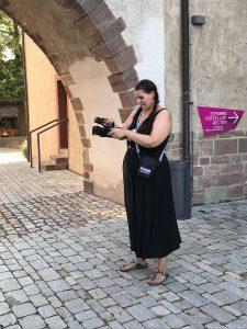 Videoaufname in Erfurt